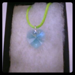 Jewelry - Sea Mist Blue Crystal Heart Necklace